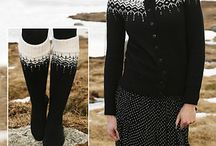 Knitted nordic jakker