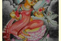paintings of Hindu Deities