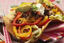 Tacos boeuf et poivron à la mexicaine