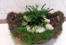 natural flower basket