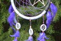 Dream Catchers / Dream Catchers are a Native American tradition, they believe it protects the person from negative dreams.  the negative dreams are caught in the net and the positive dreams go through.  There's a variety of dream catchers with different colors and sizes....they are all beautiful : )  / by Josie Conde