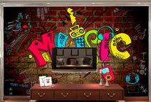 Graffiti music bedroom