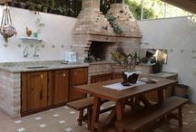 Mesa de churrasqueira