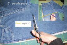 sac avec un vieux jean