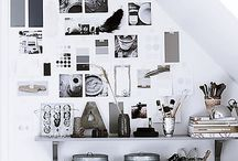 DESKS / Home Office ideas and inspiration:  decor, styling, organization.