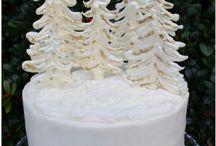 karácsonyi torta süti dekor