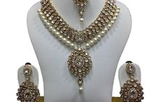 Traditional Dazzling Indian Bollywood Bridal Jewellery Necklace Set