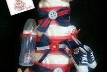 Mes diaper cakes