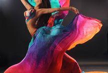 As cores da dança do ventre