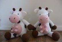 amigurumi cows & horses