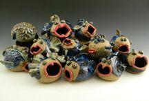 Co-op Artist Fish Pots Pottery--Dianne Register