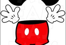 Disney Mickey & Minnie Mouse printable iron ons clip art