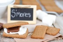S'more, please! / S'mores themed recipes - and recipes to make s'mores components / by Jennifer Streger