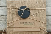 burlap and lace packaging