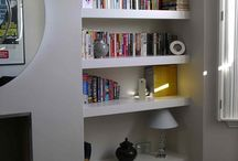 Spare room shelving