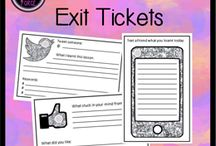 exit slips / by Elizabeth Seibel