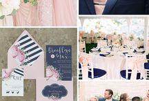 Blush Pink & Navy Wedding