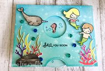 Cards critters ocean