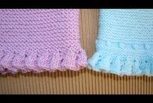 koronkowe wykończenia na drutach