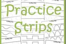 teaching/preschool/writing  and scissors