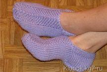 Вязание Носки Следки Тапочки