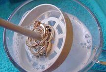 Rensing av smykker.