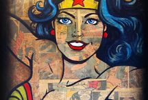 I am WONDER WOMAN / Everything wonder woman that I love and also that I plan to have in my mom cave/office  / by Krista Reese