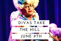 Divas Take the Hill / Divas Take the Hill was started in 2011 by the Divas, DonnaTella Howe, Miss Kitty Baby, and Retail Therapy as a way for us to put the swish back into Seattle Pride, the fun in the gay, and the quirky in the queer. Six years later, Divas Take the Hill has be come THE Seattle Pride kickoff party and we have raised over $50,000 to support GLBTQ films, homeless youth on Capitol Hill, and Gay Marriage over the years.