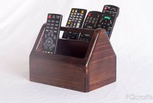 Remote Control Caddy / This wooden remote control holder will help organise remotes for your array of home electronic devices and would suit any home or office.
