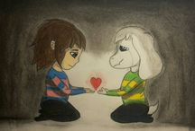 My stuff on DeviantArt / These are some of my art pieces, mostly inspired by Undertale. I'm a big big big fun of it!