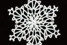 Crochet Snowflake Horgolt hópelyhek