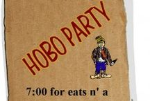 Hobo party. a party for people with homes dressed up as homeless people. not a party for the homeless