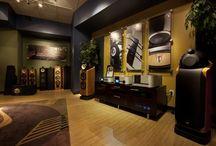 cinema with b&w speakers