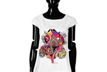 T-shirt - Argo Iris / Women T-shirt, Limited Edition Designer T-shirt COLOURS OF MY LIFE - Limited Edition wearable art signed by Anca Stefanescu.