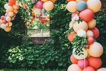 Balloons / Balloooooonnnnnsssss! Balloons always on trend. Use them as a statement piece to draw your guest's attention to a certain item or area. Have fun! Be creative!