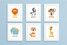Safari nursery / Safari themed nursery prints.