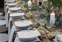 wood table settings