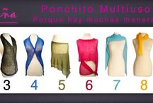 Múltiples formas de usar el ponchito multiuso.