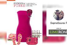 dress#footwears#scarf#handbag