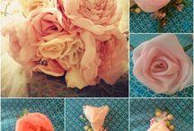 Fabric Flower / Bunga yang terbuat dari Kain