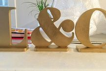 wooden letters initials