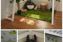 Kids bedroom treehouse forest woodland theme