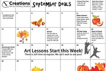 Event Calendar / Monthly Calendars of happenings at Creations