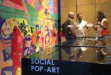 """Event - """"Social Pop-Art"""" / Inaugurazione mostra """"Social Pop-Art"""" delle opere dell'artista Michele Tombolini organizzata in collaborazione con Minotticucine"""