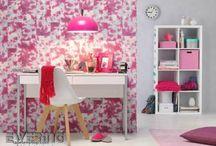 Tapeten Pop Skin von Rasch / Wilde Animal-Prints in knalligen Farben verkleiden das Wohnzimmer oder Schlafzimmer. Vliestapeten für junges und modernes Wohnen.