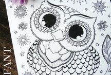 Colouring pages for grown ups / Colouring pages for grown ups / by Tricia P