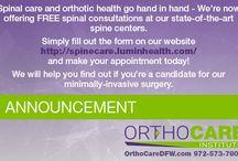 OrthoCARE Institute Announcements / Announcements from the OrthoCARE Institute.