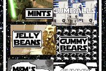 Star Wars Candy Buffet / Star Wars Candy Buffet by Temptation Candy.