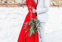 Christmas Themed Wedding Dress