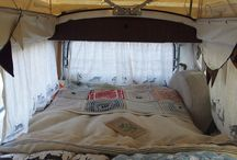 Camper interiors fabulous / This is my vision board of all the different ideas I have to do with my dream of owning my very own camper van and what I would like it to look like